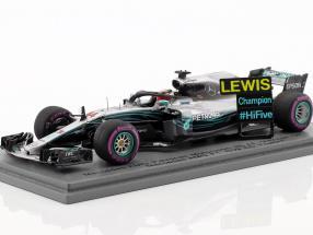 L. Hamilton Mercedes-AMG F1 W09 EQ Power  #44 World Champion Mexiko GP F1 2018 1:43 Spark