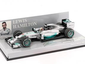 L. Hamilton Mercedes F1 W05 #44 Weltmeister Bahrain GP F1 2014 1:43 Minichamps