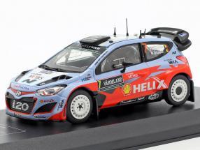 Hyundai i20 WRC #7 2nd Rallye Sweden 2015 Neuville, Gilsoul 1:43 Direkt Collections