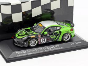 Porsche Cayman GT4 Clubsport MR #14 Pirelli World Challenge 2017 Stacy 1:43 Minichamps