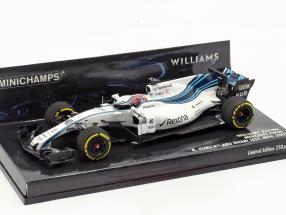 Robert Kubica Williams FW40 #40 formula 1 test Abu Dhabi 2017 1:43 Minichamps