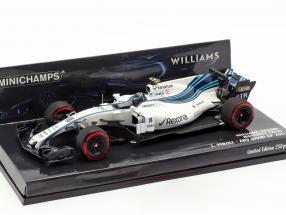 Lance Stroll Williams FW40 #18 Abu Dhabi GP formula 1 2017 1:43 Minichamps
