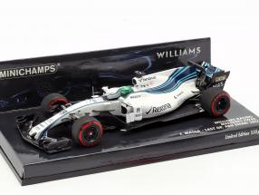 Felipe Massa Williams FW40 #19 Last GP Abu Dhabi Formel 1 2017 1:43 Minichamps