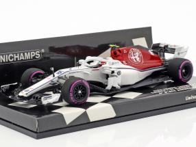 Charles Leclerc Sauber C37 #16 6th Azerbaijan GP F1 2018 1:43 Minichamps