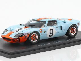 Ford GT 40 Gulf #9 Winner 24h LeMans 1968 Rodriguez, Bianchi 1:43 Spark