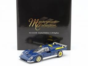 Ferrari 512M Provo Version 1971 blue / yellow 1:18 GMP