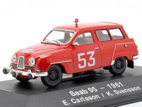 Saab 95 #53 4th Rallye Monte Carlo 1961 Carlsson, Svensson 1:43 Atlas