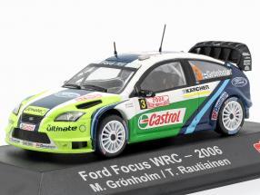 Ford Focus RS WRC 06 #3 Winner Rallye Monte Carlo 2006 Grönholm, Rautiainen 1:43 Atlas