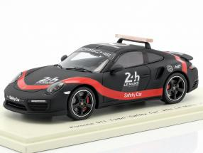 Porsche 911 Turbo Safety Car 24h LeMans 2018 schwarz / rot 1:43 Spark