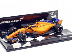 Carlos Sainz jr. McLaren MCL33 #55 test Abu Dhabi GP F1  2018 1:43 Minichamps