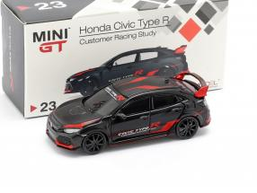 Honda Civic Type R (FK8) LHD Customer Racing Study black / red 1:64 TrueScale