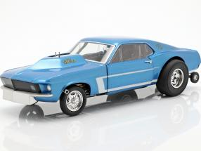 Ford Mustang Gasser The Boss year 1969 blue metallic 1:18 GMP