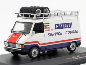 Fiat 242 van year 1979 Fiat France Rallye Service White / blue / red 1:43 Ixo