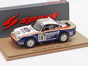 Porsche 959 #187 Rally Paris - Dakar 1986 Kussmaul, Unger 1:43 Spark