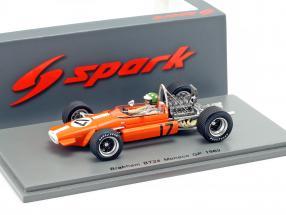 Silvio Moser Brabham BT24 #17 monaco GP formula 1 1969 1:43 Spark