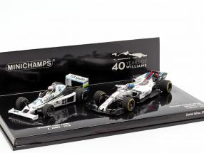 2-Car Set Williams F1 40th Anniversary Jones 1978 and Massa 2017 1:43 Minichamps