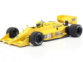 Ayrton Senna Lotus 99T #12 Winner monaco GP formula 1 1987 1:18 Minichamps