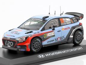 Hyundai i20 WRC #20 Winner Rallye Italy Sardinia 2016 Neuville, Gilsoul 1:43 Ixo