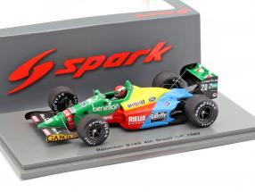 Johnny Herbert Benetton B188 #20 4th Brazil GP formula 1989 1:43 Spark