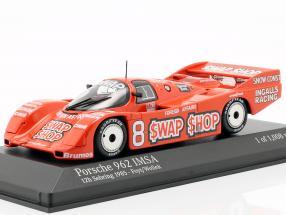 Porsche 962 IMSA #8 Winner 12h Sebring 1985 Foyt, Wollek 1:43 Minichamps