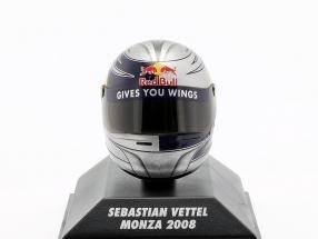 S. Vettel Scuderia Toro Rosso GP Monza formula 1 2008 helmet 1:8 Minichamps