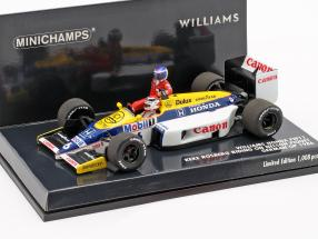 Rosberg riding on Piquet Williams FW11 #6 Deutschland GP F1 1986 1:43 Minichamps