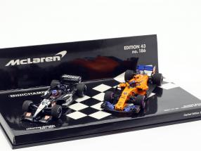 2-Car Set Fernando Alonso 300th formula 1 GP Canada 2018 1:43 Minichamps