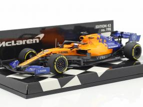 Carlos Sainz jr. McLaren MCL34 #55 formula 1 2019 1:43 Minichamps