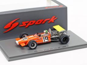 Silvio Moser Brabham BT24 #19 6th USA GP Formel 1 1969 1:43 Spark