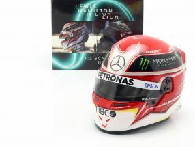 Lewis Hamilton Mercedes-AMG F1 W10 EQ Power+ #44 Formel 1 2019 Helm 1:2 Bell