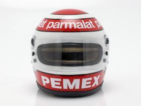 2 helmets Set Nelson Piquet sr. 1981 & Nelson Piquet jr. 2019 1:2 Bell