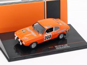 Ford Capri MK I #203 Rallye Monte Carlo 1973 Schimpf, Zauner 1:43 Ixo