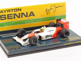 Ayrton Senna McLaren MP4/4 #12 Brazilian GP World Champion F1 1988 1:43 Minichamps