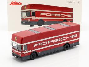 Mercedes-Benz O 317 Race truck Porsche Motorsport red 1:43 Schuco