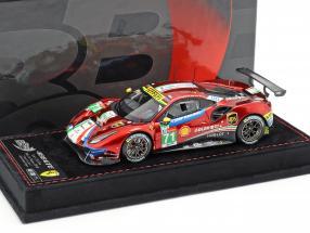 Ferrari 488 GTE #71 24h LeMans 2018 Rigon, Bird, Molina 1:43 BBR