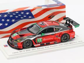 Lexus RC F GT3 #15 Pole position GTD Class Mid-Ohio 2018 Hawksworth, Heinemeier 1:43 Spark