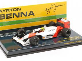 A. Senna McLaren MP4/4 #12 Sieger Ungarn GP Weltmeister F1 1988 1:43 Minichamps
