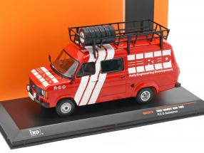 Ford Transit MK II year Rallye Assistance R.E.D. 1985 red / White 1:43 Ixo