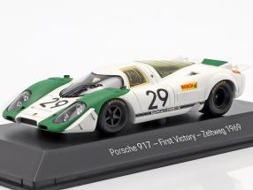 Porsche 917 #29 First Victory Zeltweg 1969 Ahrens, Siffert 1:43 Spark