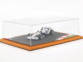 High quality acrylic display case with diorama baseplate Race Track