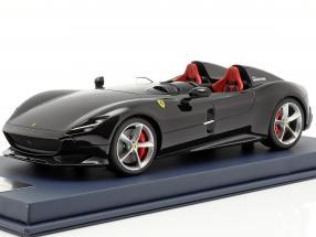 Ferrari Monza SP2 Baujahr 2018 schwarz mit Vitrine 1:18 LookSmart