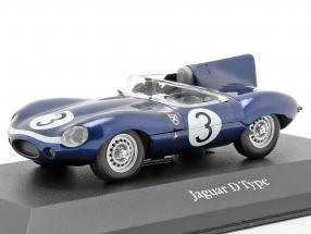 Jaguar D type #3 Winner 24h LeMans 1957 Flockhart, Bueb 1:43 Atlas