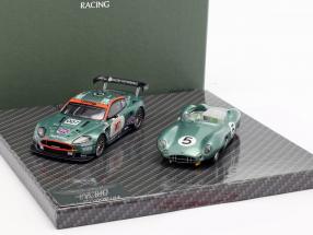 2-Car Set Aston Martin DBR1 #5 (1959) & DBR9 #007 (2006) 24h LeMans 1:43 Ixo