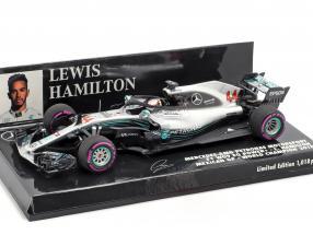 L. Hamilton Mercedes-AMG F1 W09 #44 Weltmeister Mexiko GP F1 2018 1:43 Minichamps