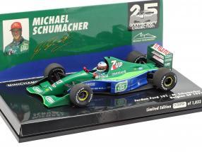 M. Schumacher Jordan 191 #32 F1 Debüt Belgien GP Spa 1991 1:43 Minichamps