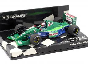 Bertrand Gachot Jordan 191 #32 6th Großbritannien GP F1 1991 1:43 Minichamps