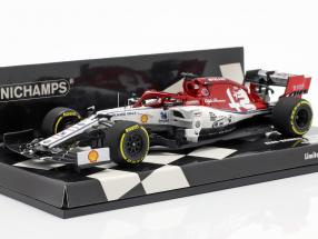Kimi Räikkönen Alfa Romeo Racing C38 #7 China GP Formel 1 2019 1:43 Minichamps