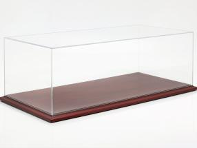 High quality acrylic Showcase Molsheim with wood base mahogany 1:8 Atlantic