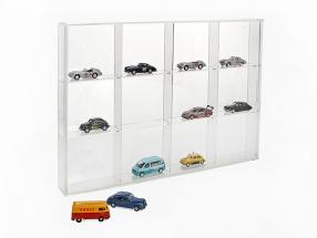 Small Showcase from Acrylic glass 12 shelf 350 x 240 x 45 mm SAFE