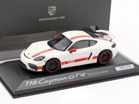 Porsche 718 Cayman GT4 Sports Cup Edition  weiß / rot 1:43 Minichamps
